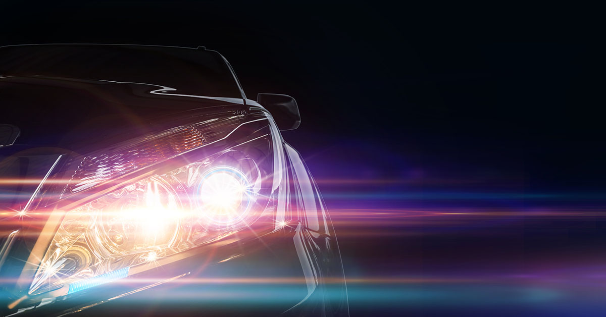 Integrated automotive lidar technology in headlights and taillights